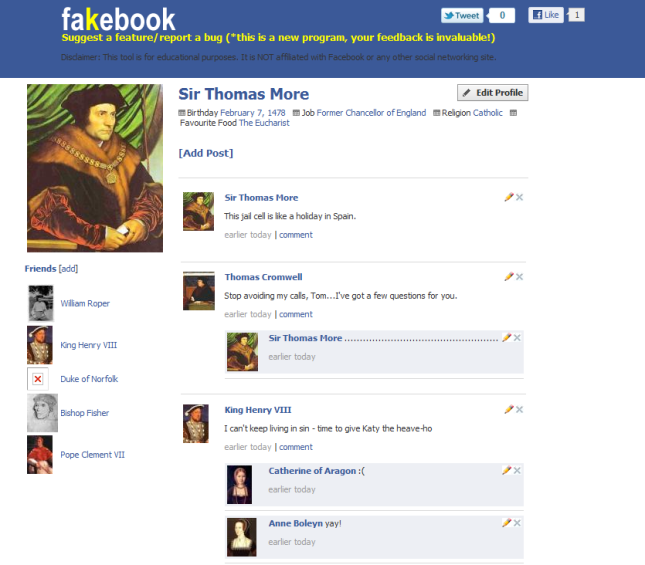 Thomas More Fakebook